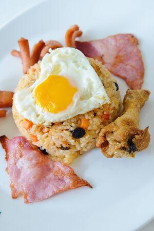 bacon love: Thai food, American fried rice