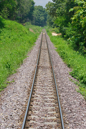 developing: train tracks in country developing