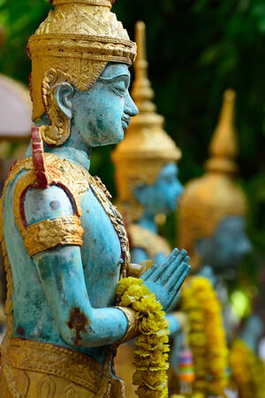 asian art: Angel statue of asian art, Thailand Stock Photo
