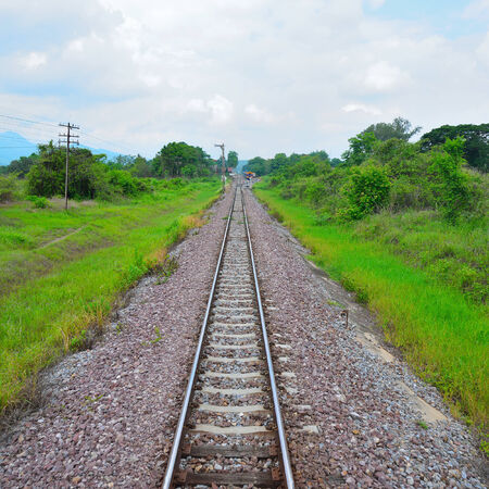 developing country: train tracks in country developing