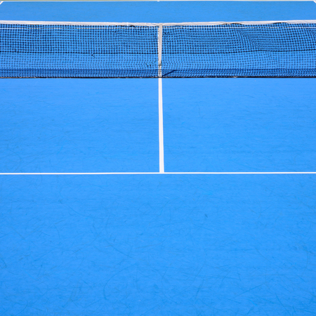 tennis court, sport blue background photo