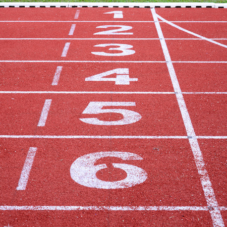 running track, start and finish line photo