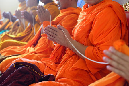Monks of the religious rituals, Buddhist ceremony photo