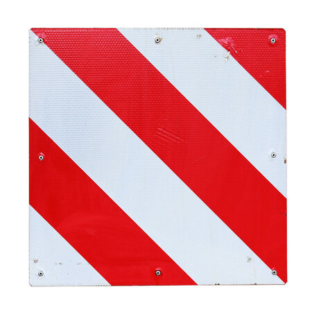trespassing: warning sign red and white