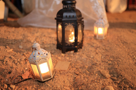 candle lamp decoration festival of light, lighting decorate in wedding day photo