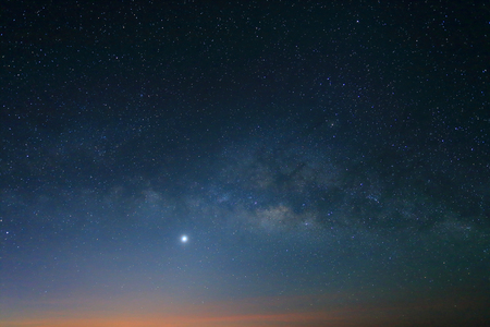 Sunrise in the morning, Landscape of Milky Way beautiful sky photo