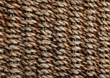 water hyacinth: wicker texture background, traditional handicraft weave Water Hyacinth