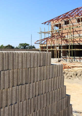 brick for Building construction house photo