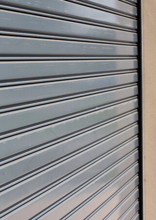 steel roller shutter door weathered photo
