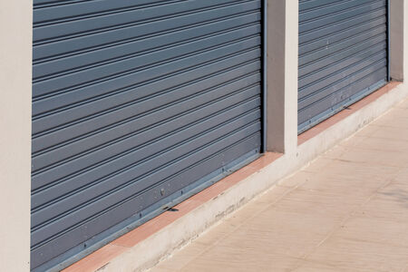 steel roller shutter door weathered photo
