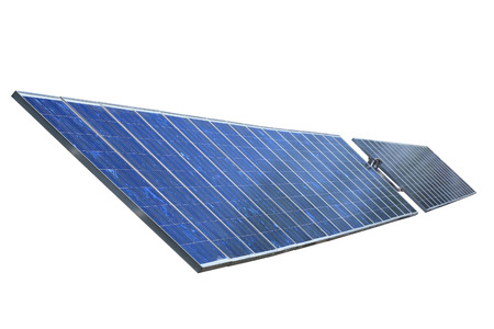 Solar panels isolated on white background photo
