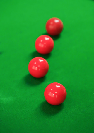 snooker balls: snooker balls on green snooker table, sport game background