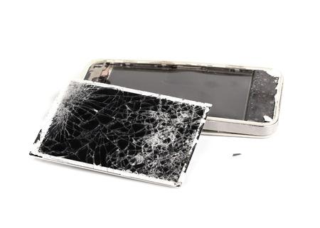 mobile phone broken, touch screen crack photo