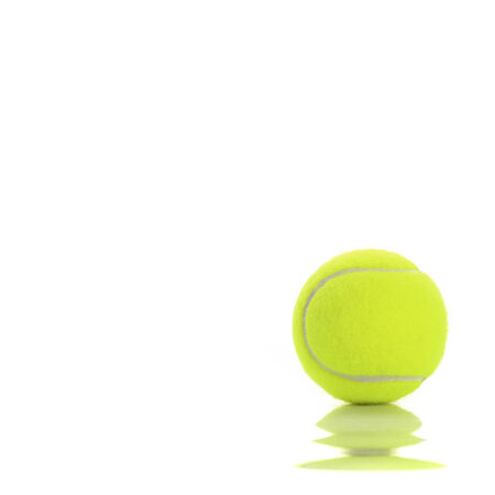 tennis ball: tennis ball isolated on white background Stock Photo