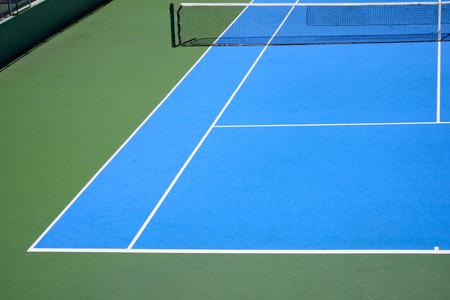 green field: blue and green tennis court sport background
