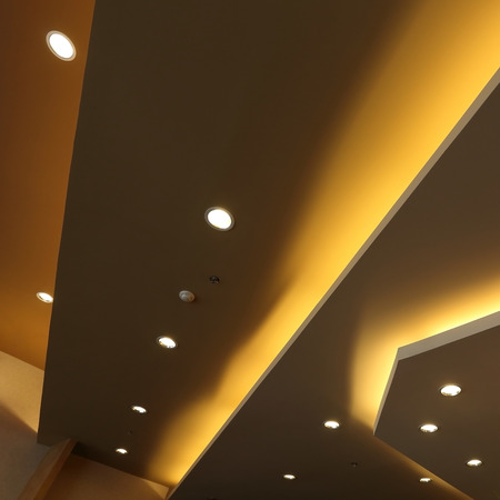 lighting background: interior of light on ceiling modern design