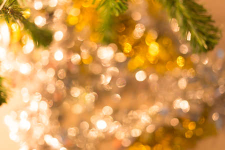 abstract light celebration background with defocused lights photo
