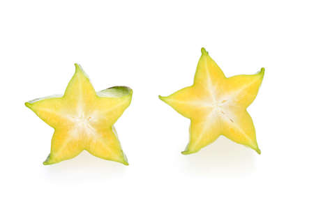 carambola, star fruit isolated on white background photo