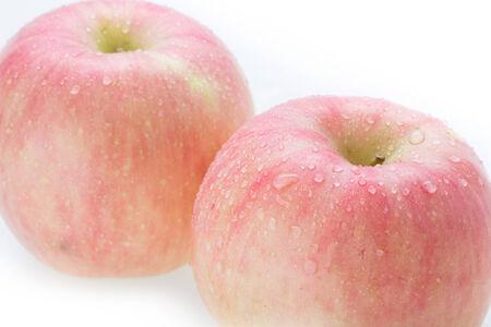 apple fuji fruit isolated on white background Stock Photo