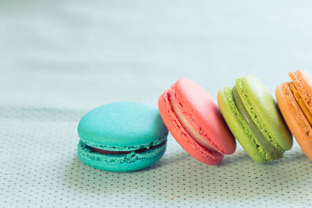 colorful macaron sweet tasty dessert photo