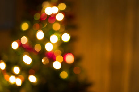 new year tree: abstract christmas background with defocused lights Stock Photo
