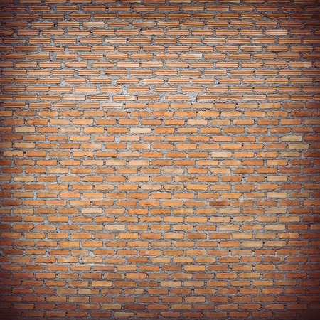brick wall construction design of vintage background photo
