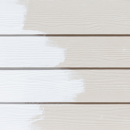 white paint on wood wall plank background photo