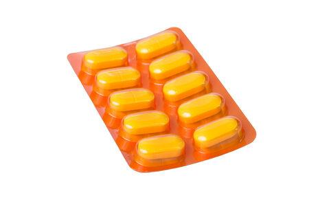 psychotropic medication: pills of medicine isolated on white background