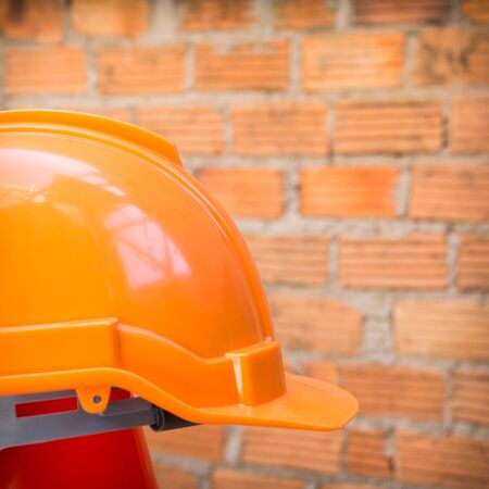 construction helmet safety for protect worker from accident in construction site photo