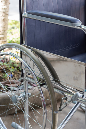 mobility nursing: detail of empty wheelchair Stock Photo