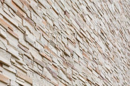 Muster Der Dekorativen Steinmauer Hintergrund Photo