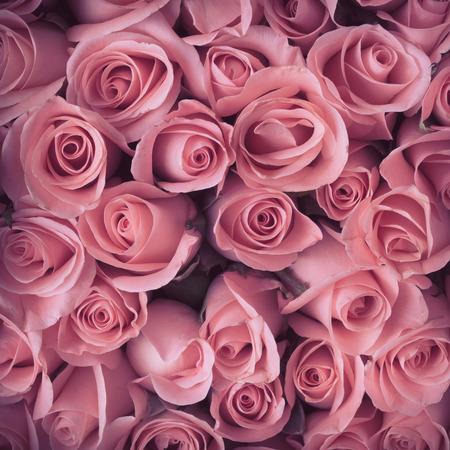 mazzo di fiori: rosa bouquet di fiori vintage background Archivio Fotografico
