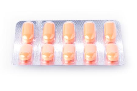psychotropic medication: pills of medical isolated on white background