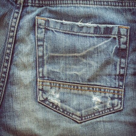 rend: back pocket of fashion blue jeans