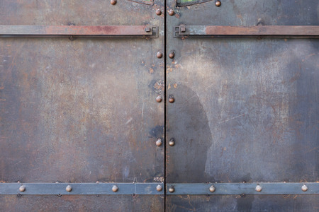 corroded: metal door rusty corroded texture background Stock Photo