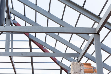 residential construction: steel beams roof truss residential building construction industry