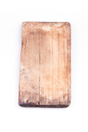 abrasion: old wood board weathered isolated on white background