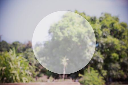 text box: nature background with circle of blank text box