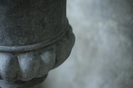vase plaster: close up image of stone pot plant Stock Photo