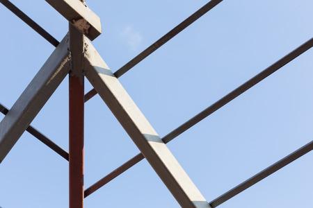 steelwork: steel beams roof truss residential building construction industry