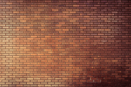 red wall: brick wall texture background material of industry construction, image used retro filter