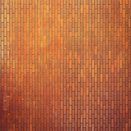 red square: brick wall texture background material of industry construction, image used retro filter