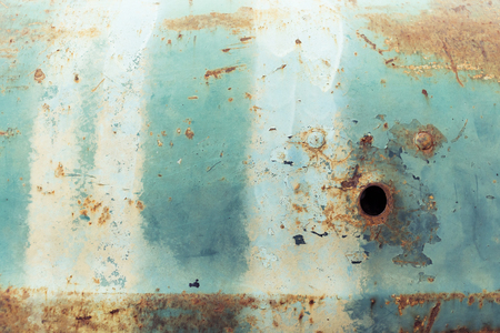 corroded: rusty metal plate panel corroded texture background Stock Photo