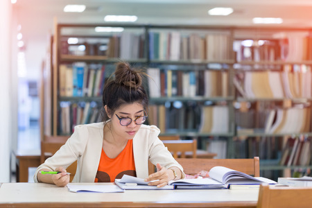 worked: study education, woman worked in the library