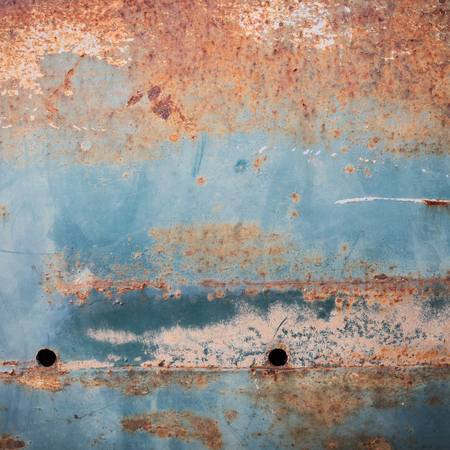 blue metal: rusty metal plate panel corroded texture background Stock Photo