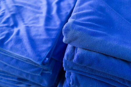 softness: blue towel softness fluffy fiber fabric of textile fabric industrial