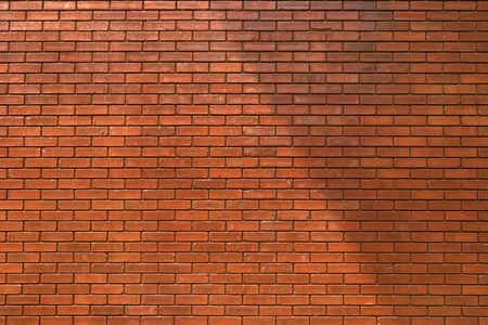 clay brick: brick wall texture background material of industry building construction Stock Photo