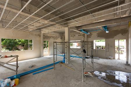 construction site building with cement material structure Foto de archivo