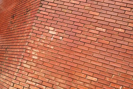background pattern: brick wall texture background material of industry building construction Stock Photo