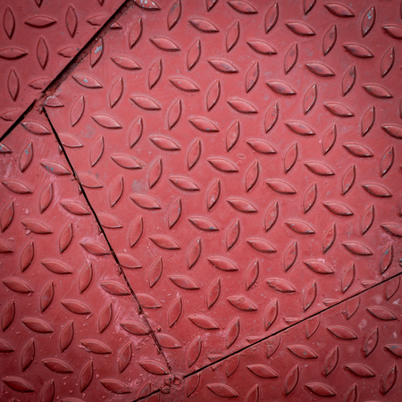 metallic grunge: red dirty metal plate, metallic grunge texture background Stock Photo